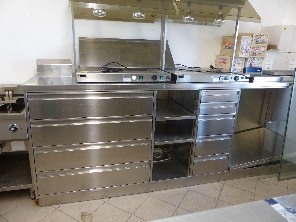 Edelstahlküchenarbeitsblock