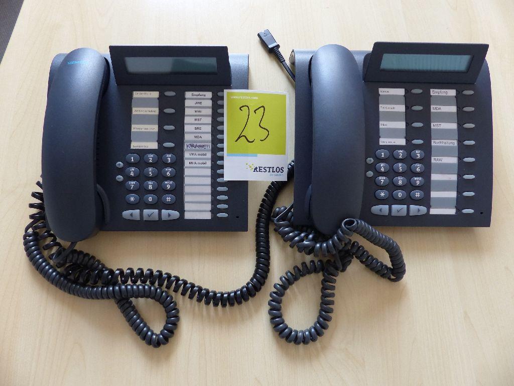 2x Siemens Systemtelefone, OptiPoint 500 Standard und 500 Advance