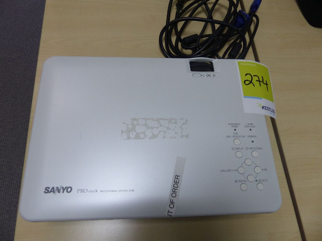 Projektor der Marke Sanyo, Typ ProX