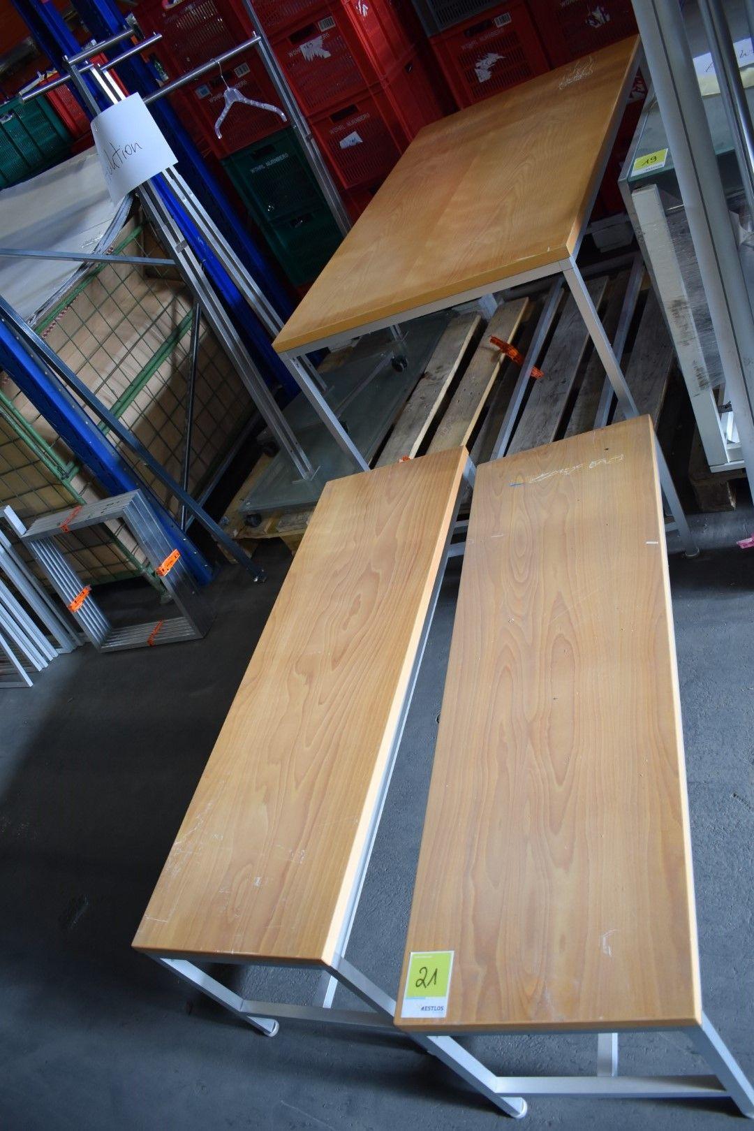 Tisch mit 2x Sitzbank