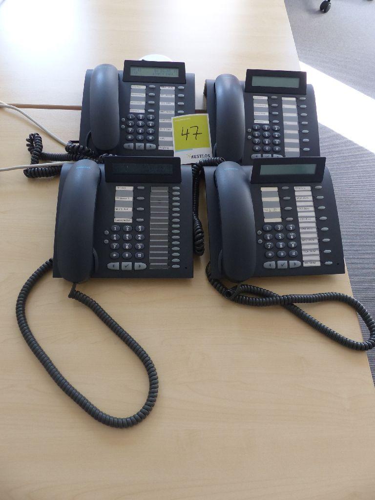 4x Siemens Systemtelefone, Typ OptiPoint 500