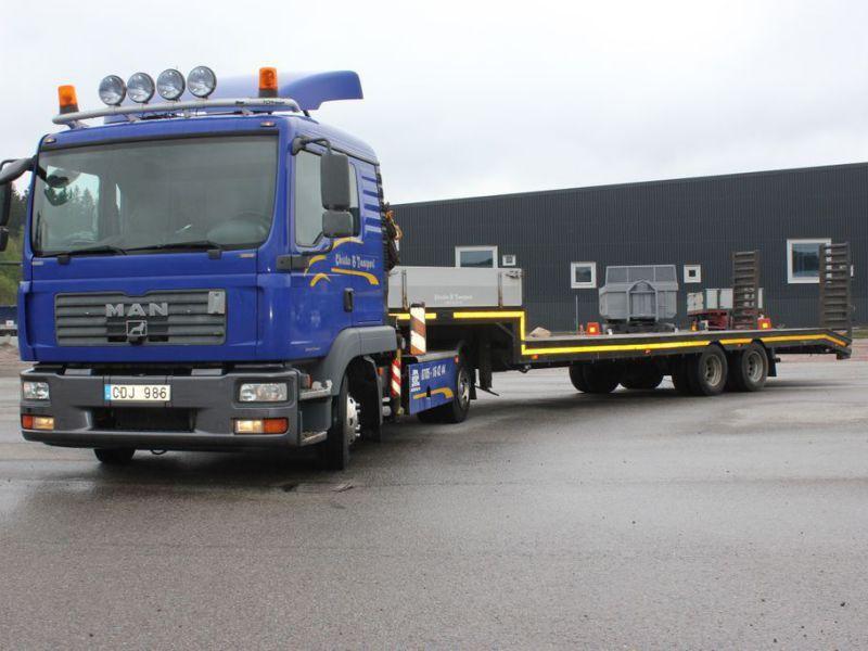 MAN TGL 8.210 4X2 BL Sattelzugmaschine avec Kran et Maschinenanhänger / Sattelzugmaschine avec Kran