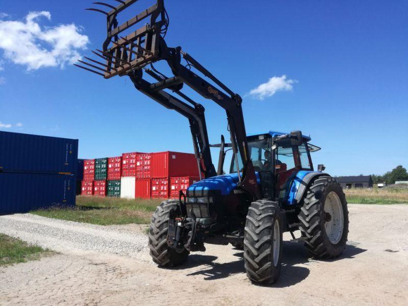 Нью Холланд ТМ165 Трактор с Ладером / Traktor mit Lader