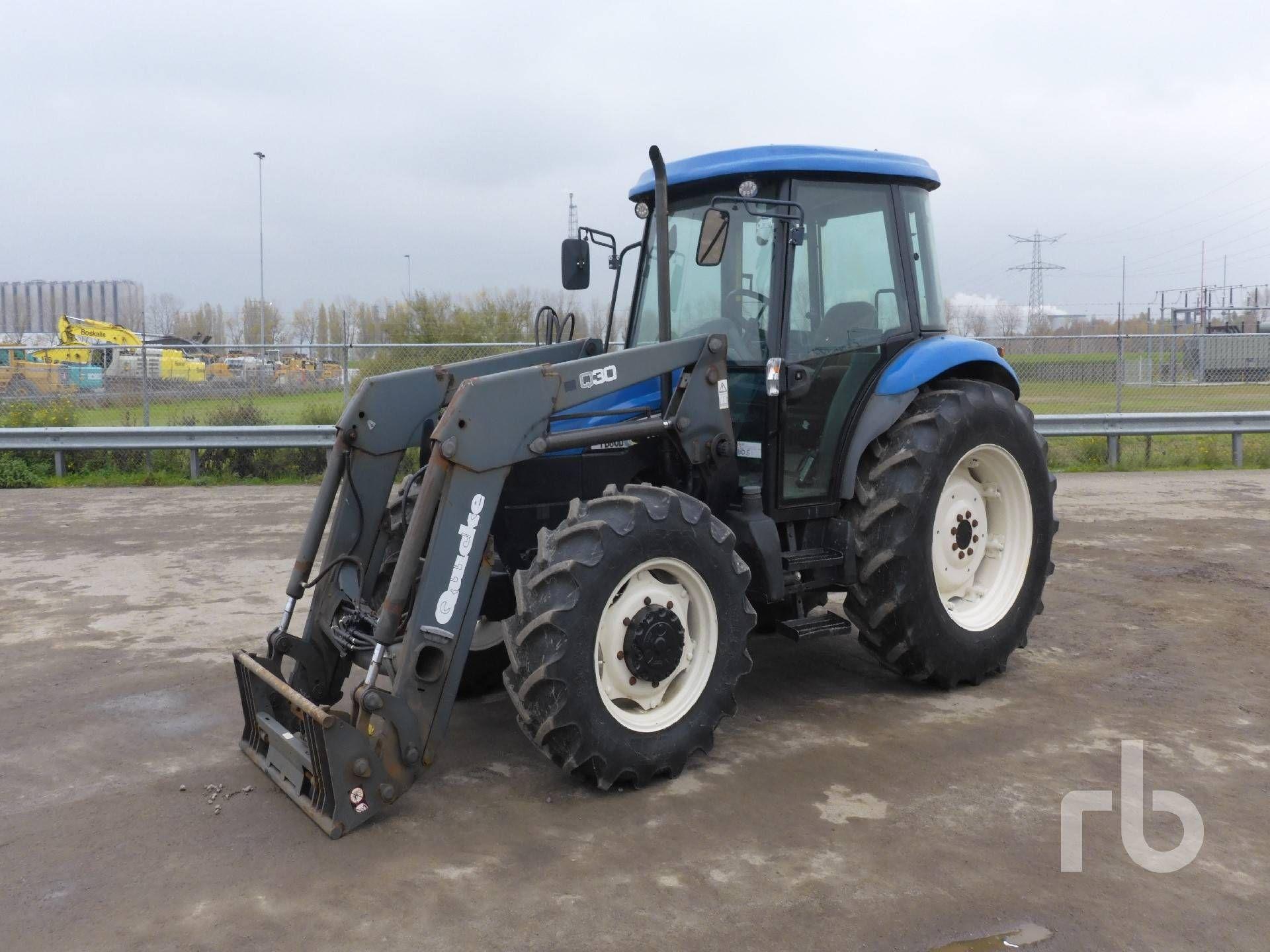 2004 NEW HOLLAND TD80D 4WD Landwirtschaftlicher MFWD Traktor Lot # 977