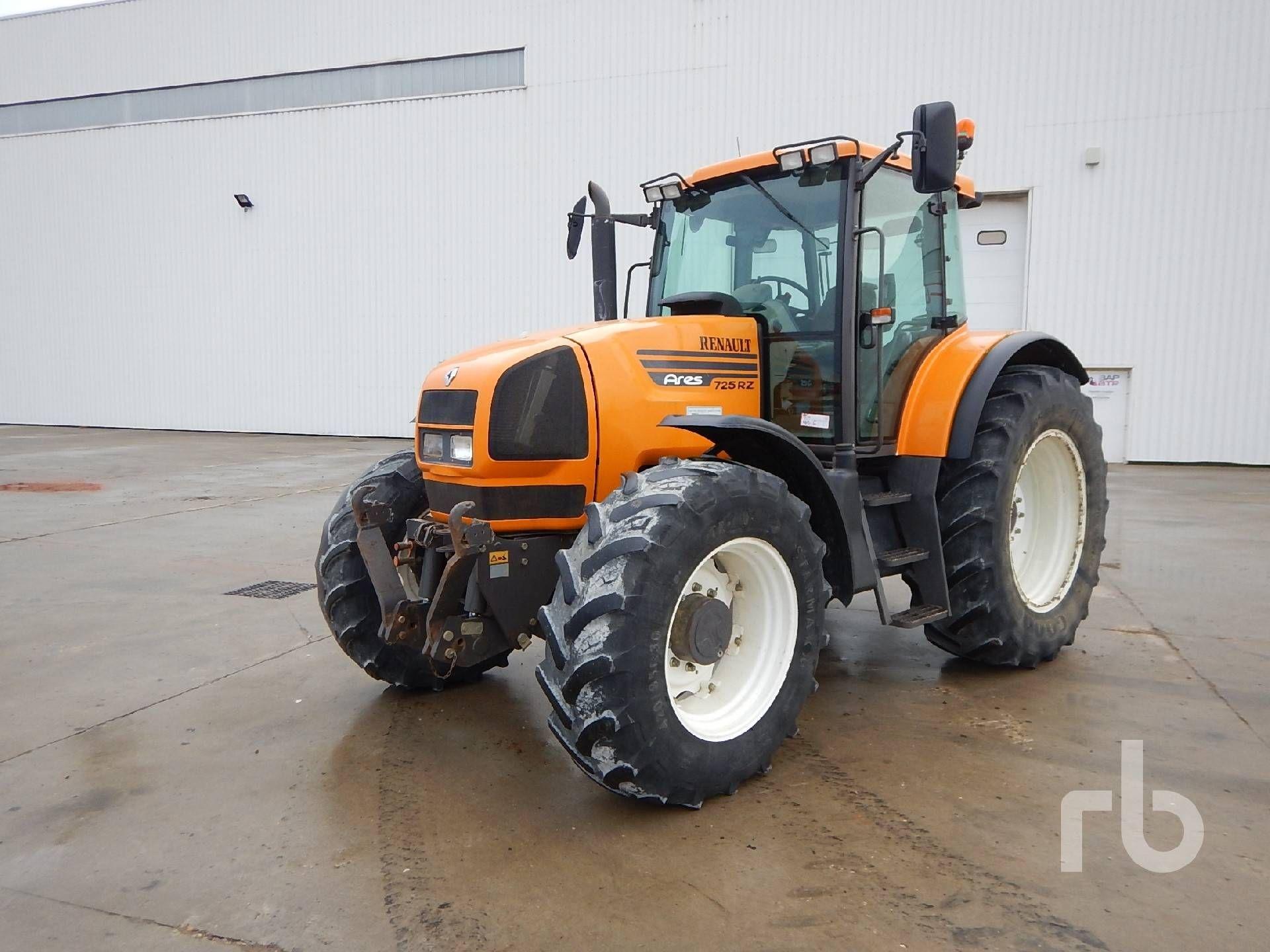 2001 RENAULT ARES 725 RZ 4WD Landwirtschaftstraktor MFWD Traktor