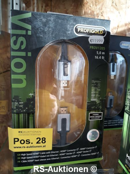 1 Stk. Высокоскоростной HDMI-Кабель с Ethernet PROFIGOLD Тип PROV1205, 5 м