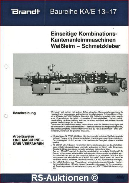 Kantenanleimmaschine BRANDT KA/E17/20/200, Bj: 1986