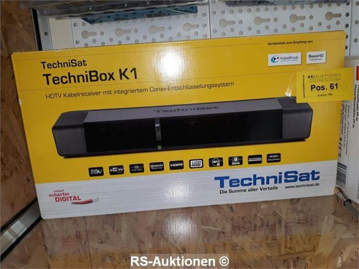 1 Stk. Kabelreceiver TECHNISAT Typ Technibox K1, schwarz