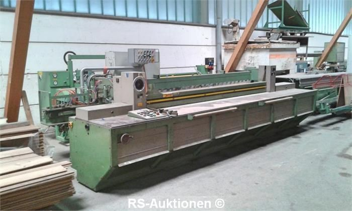 Liegende Plattensäge LANGZAUNER FPM-2000, Bj: 1982, 3050 x 1450 mm, Vorritzer