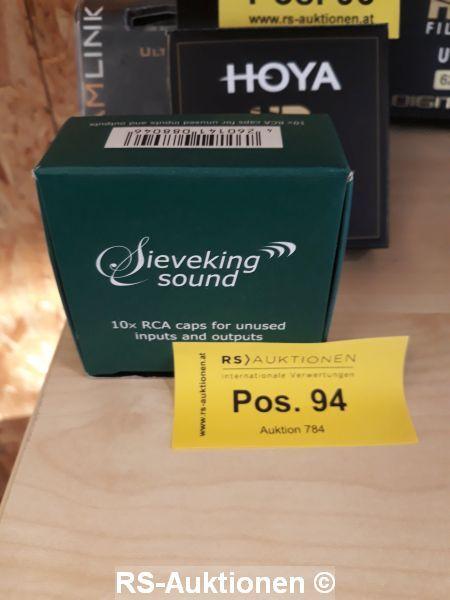 10 Stk. RCA-Abschlussbuchsen High End SIEVEKING SOUND, für Verstärker