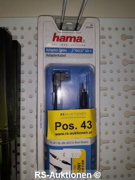 1 Stk. Adapterkabel HAMA Typ DCCSO1, für SONY-Kameras, für Fernauslöser