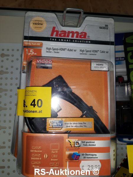 1 Stk. HDMI-Кабель ХАМА, 1,5 м, с Winkelstecker
