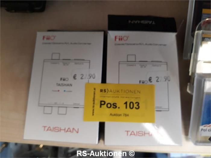 2 Stk. Digitalwandler FIIO Typ D03K, von optisch/koaxial auf analog