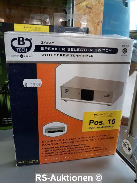 1 Stk. Lautsprecher-Umschaltpult für 2 Lautsprecherpaare