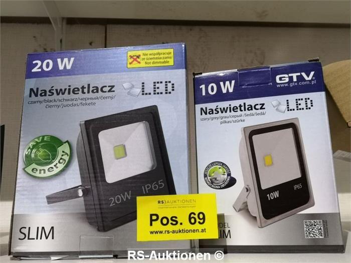 2 Stk. LED-Strahler, 1x 10W, 1x 20W, IP65