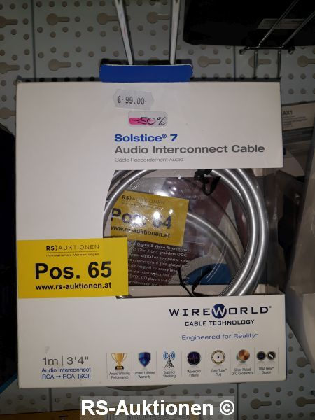 1 Stk. Audiokabel WIREWORLD Typ Solstice 7, pour analogique, 1 m