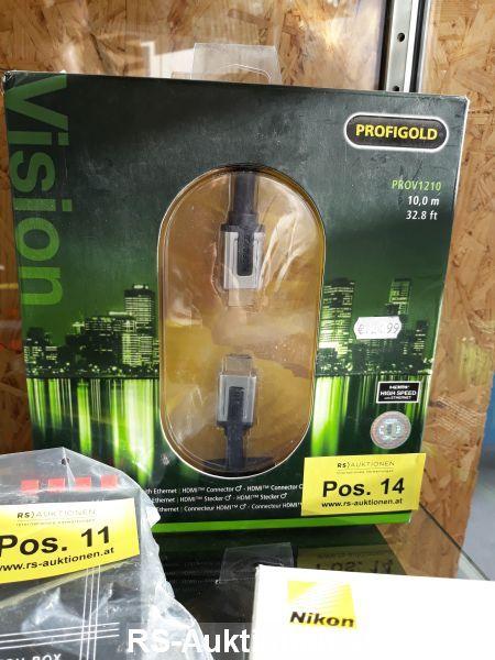 1 Stk. Высокоскоростной HDMI-Кабель с Ethernet PROFIGOLD Тип PROV1210, 10 м