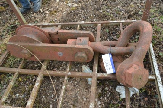 Pulley Wheel Winch Unit (ohne Post-Palette)