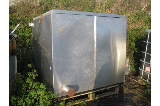 Isolierter Trockenschrank aus Edelstahl, 1,5 m x 1
