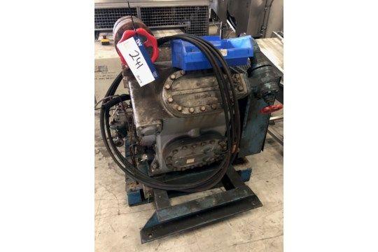 Sabroe SMC104S Kältemittelkompressor, auf Kufen, di