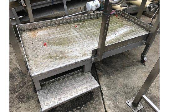 Mobiler Prüfstand aus Edelstahl / Aluminium