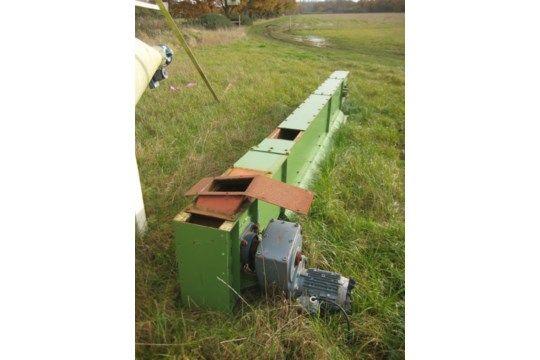 100 mm Kette & amp; Flight Conveyor, 5 m lang mit einem Körper