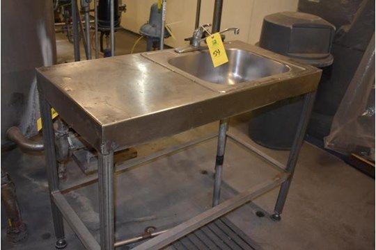 Waschbecken aus Edelstahl, Einzelwaschbecken, RIGGING FEE $ 15