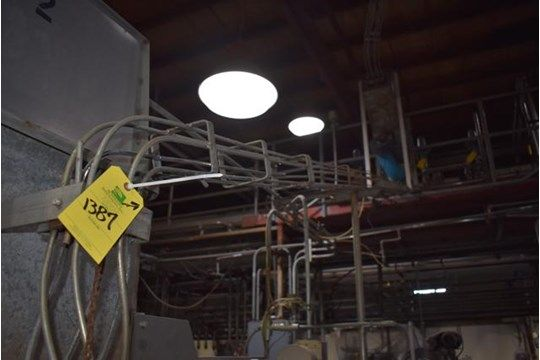 SS Can Blower w / Approx. 20 ft. Can Förderband, Größe 300 x 407 Can, RIGGING FEE: $ 300