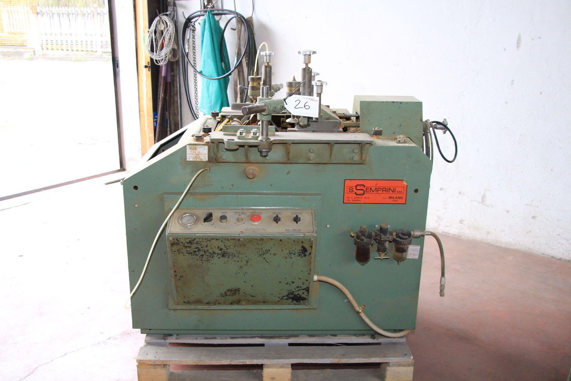 SEMPRINI EPM / 70 Langlochbohrmaschine für Rollladen