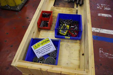 Palette Ersatzwerkzeuge, Hülsen etc. SK 50