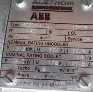 ABB MC23AS R0006 Servomotor mit Winkelgetriebe