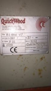 QUICKWOOD RO 1300 1/T Bürstmaschine
