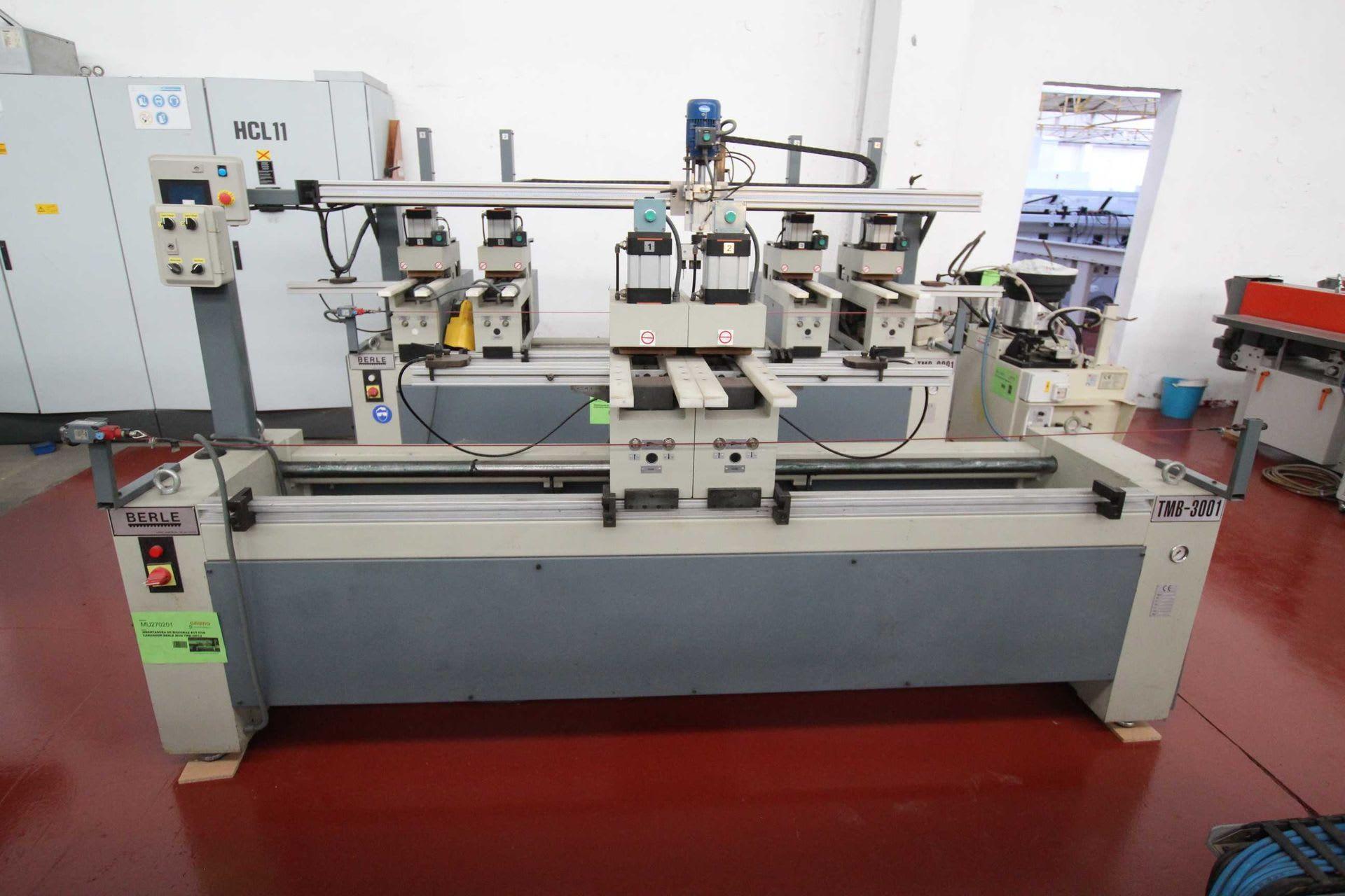 BERLE TB3001 Scharnier-Bohr- und Eintreibmaschine