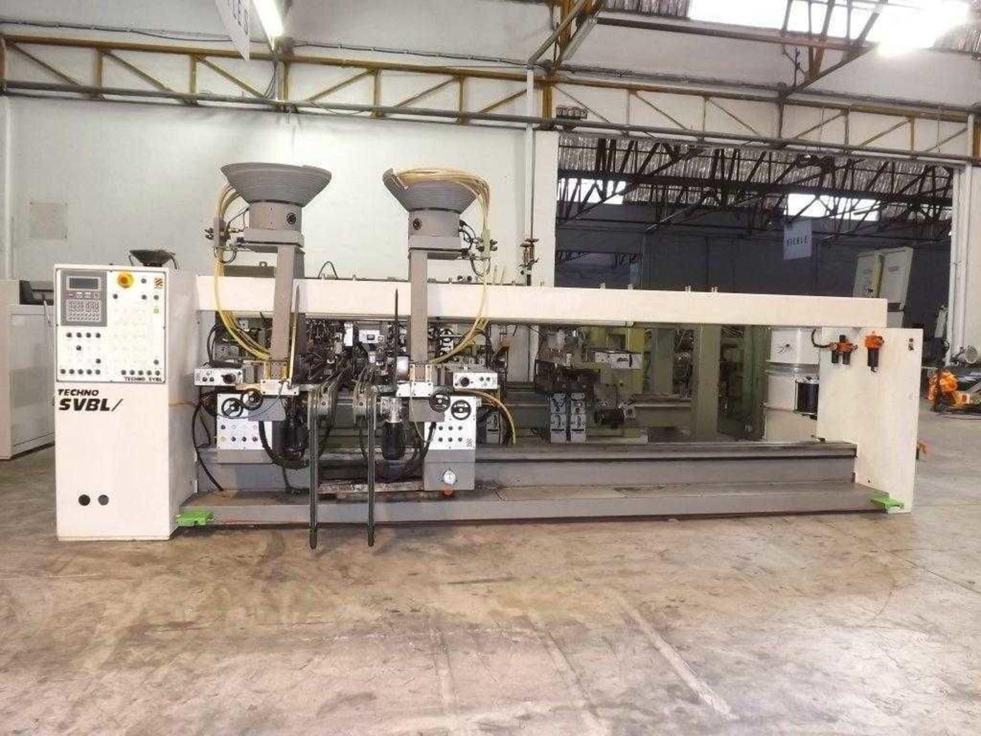 BIESSE TECHNO SVBL/J Durchlauf-Dübeleintreibmaschine