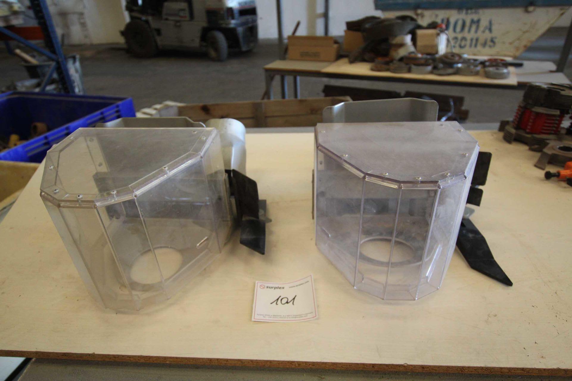 BIMAQ Posten an 2 Schutzscheiben für Tischfräse
