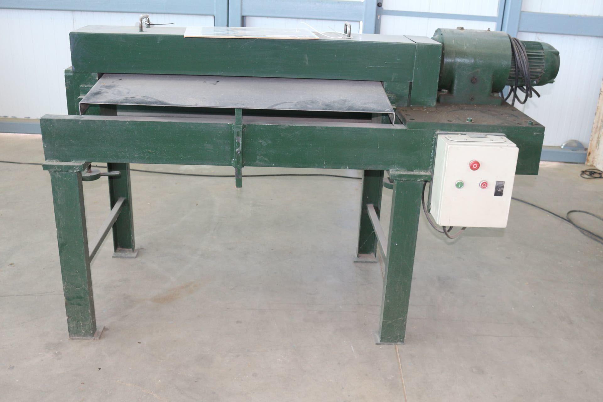 Walzenanleimmaschine für Bleche