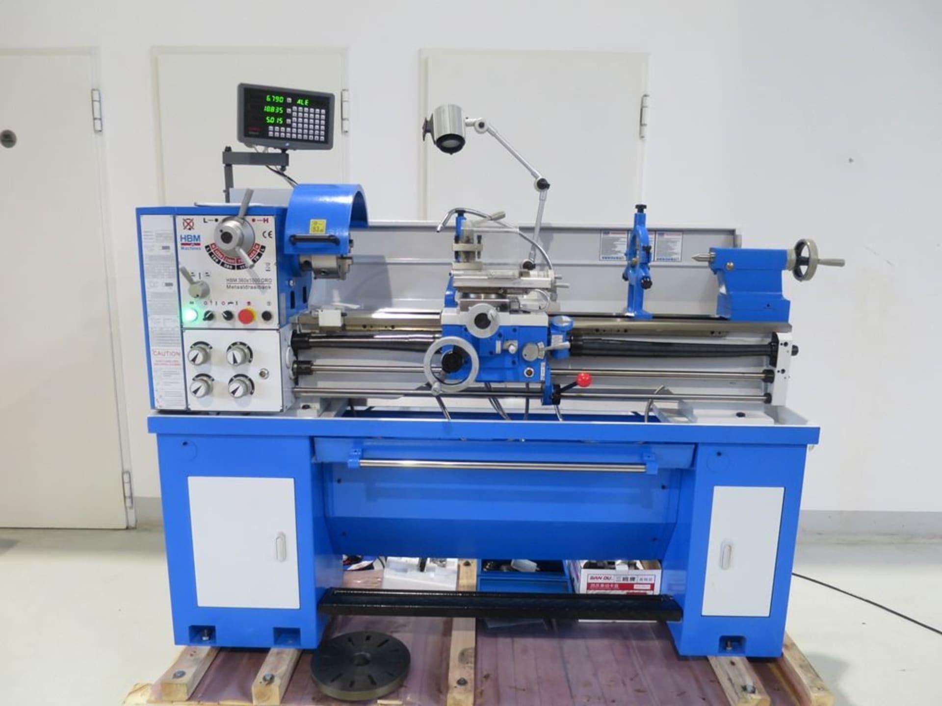 HBM 360 x 1000 DRO Leit- und Zugspindeldrehmaschine