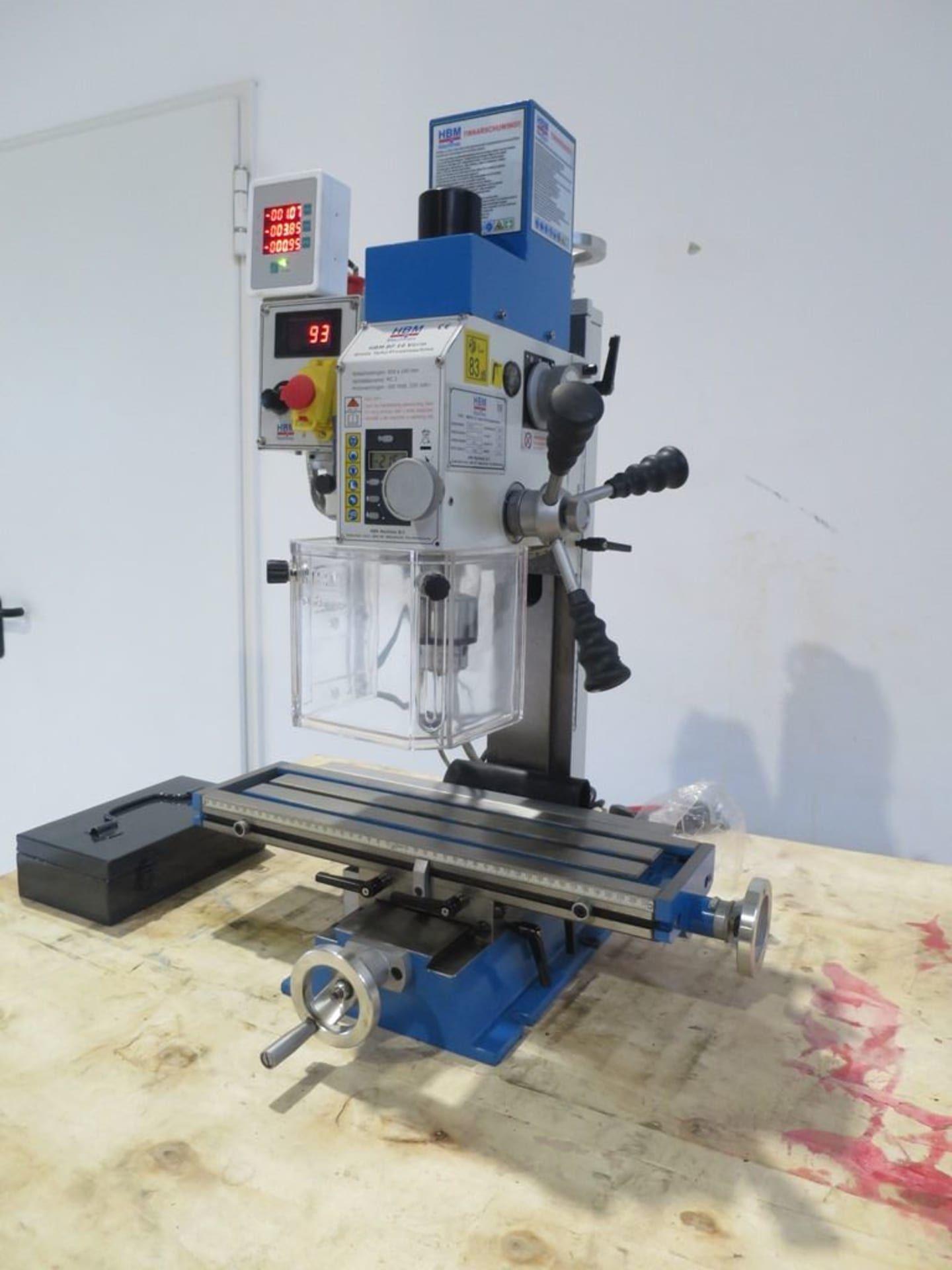 HBM BF 16 DRO Bohr- und Fräsmaschine