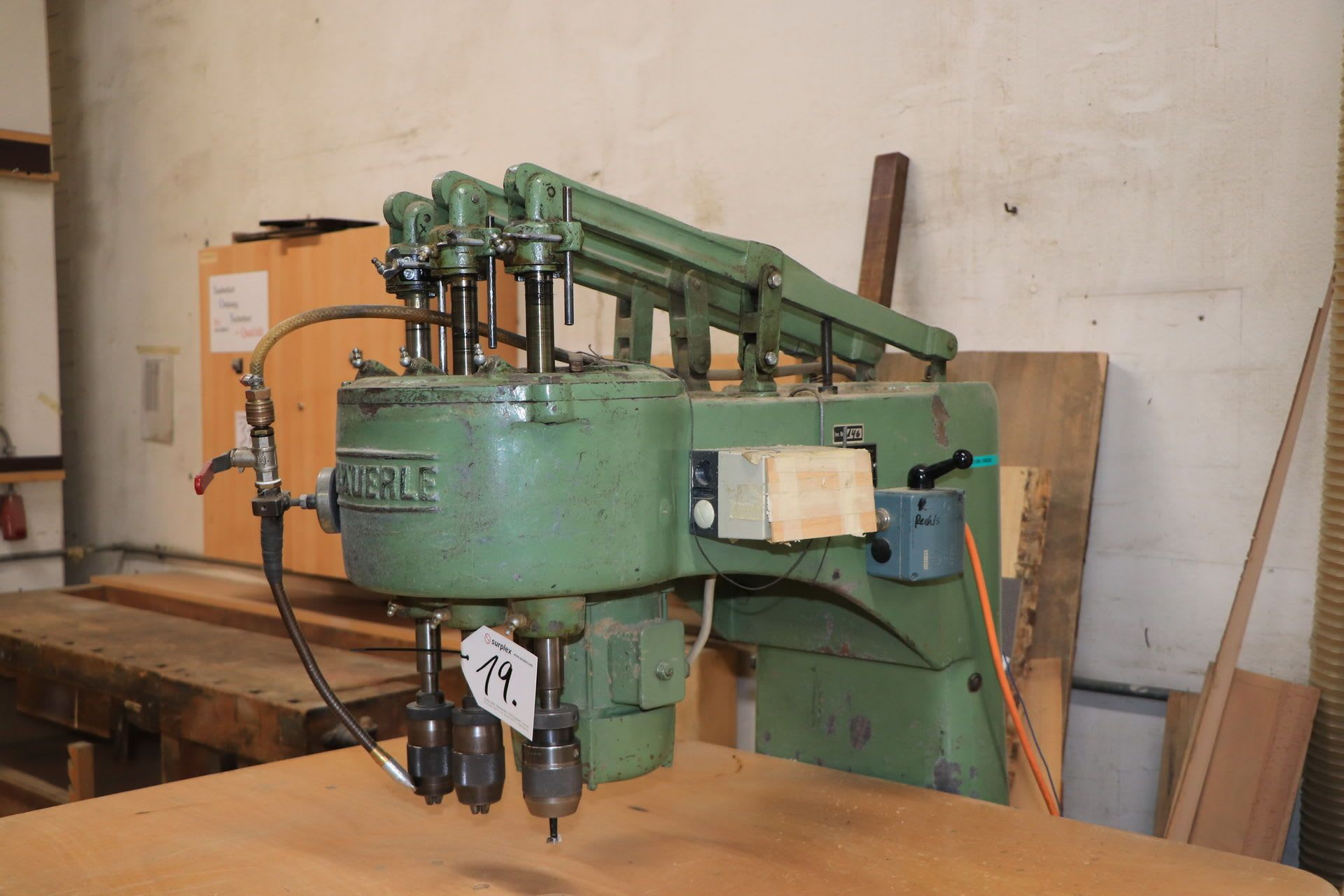 BÄUERLE AL 3-Spindel-Bohrmaschine