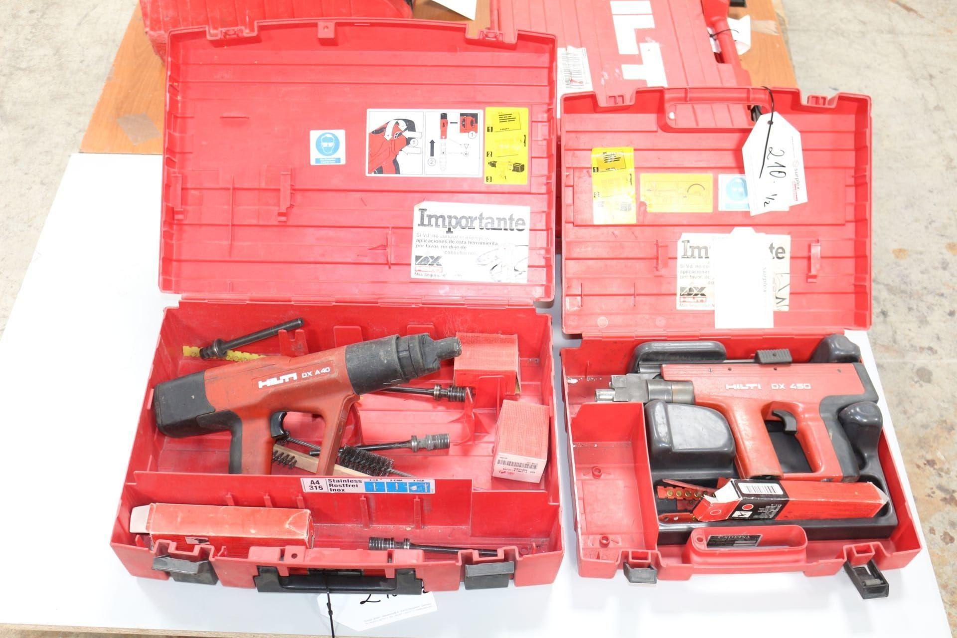 HILTI DX A 40 / DX 450 Bolzenschussgerät und Bolzensetzgerät
