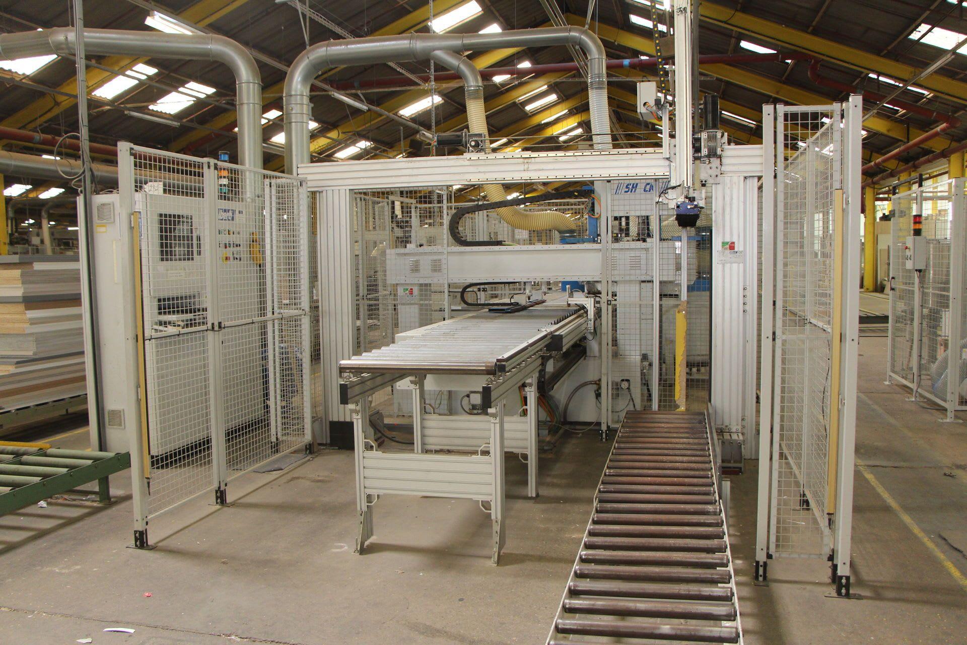 VECTEUR ALBERTI CN CNC-Längsdurchlauf-Bohr-und Eintreibmaschine