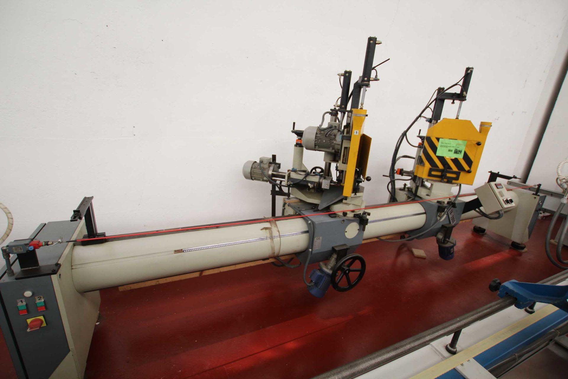 BERLE TB 2000 Doppelkopf-Gehrungssäge mit Bohraggregate