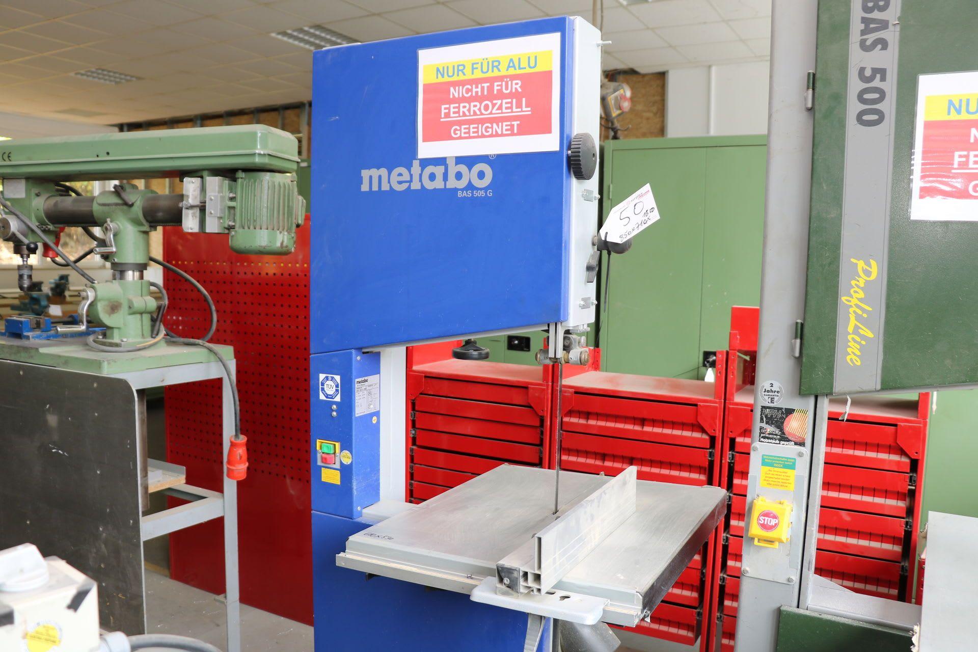 METABO BAS 505 G Vertikal-Bandsägemaschine