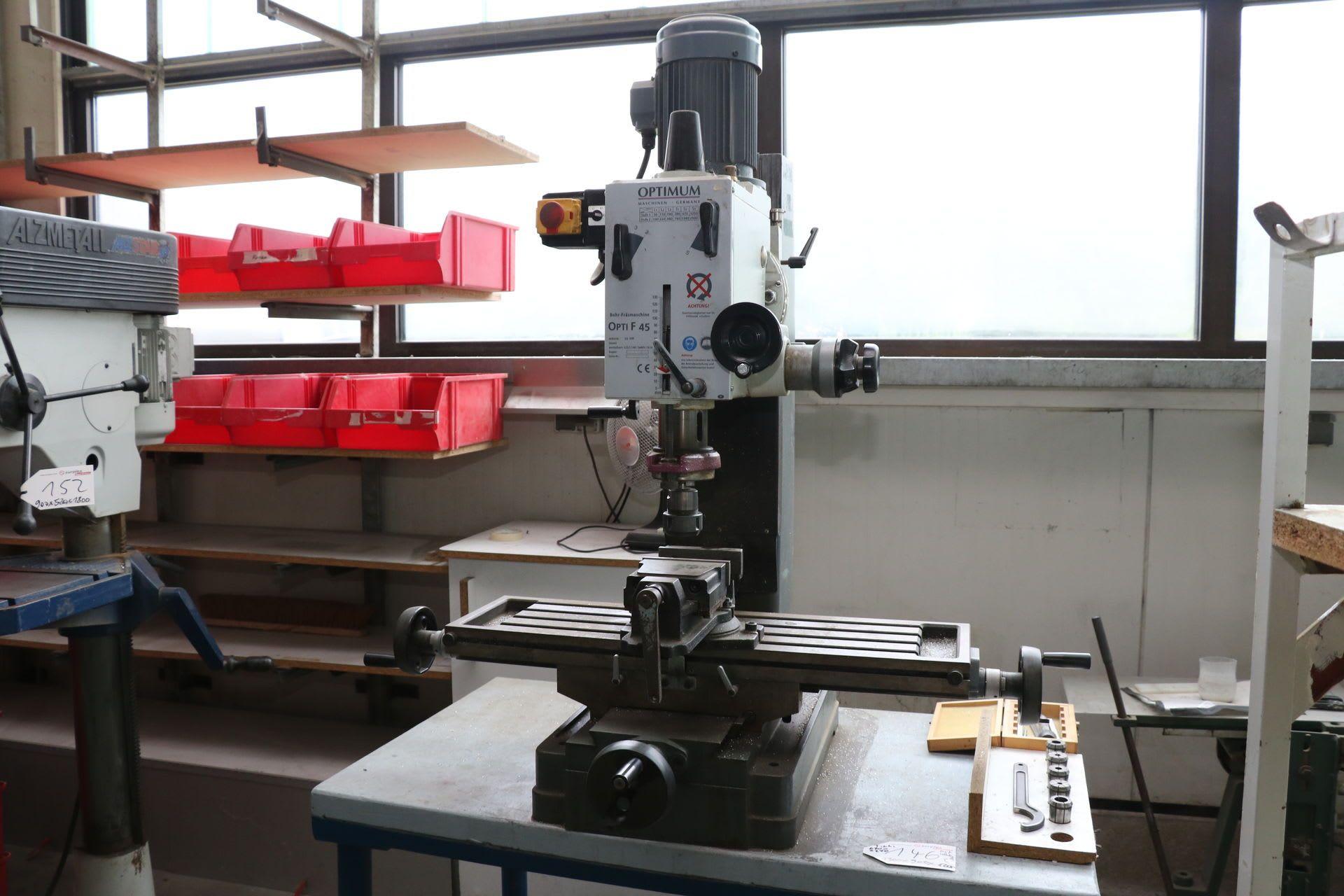 OPTIMUM OPTI F 45 Bohr- ve Fräsmaschine