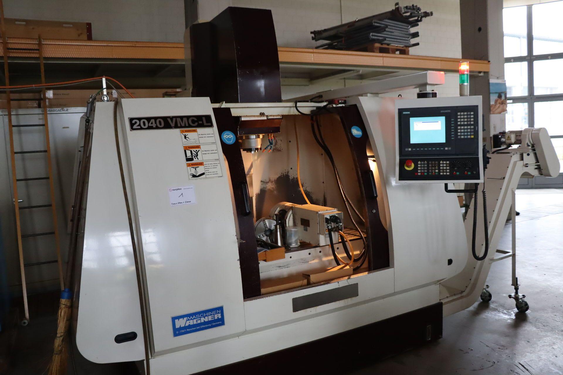 WAGNER VMC 2040 L CNC-Bearbeitungszentrum