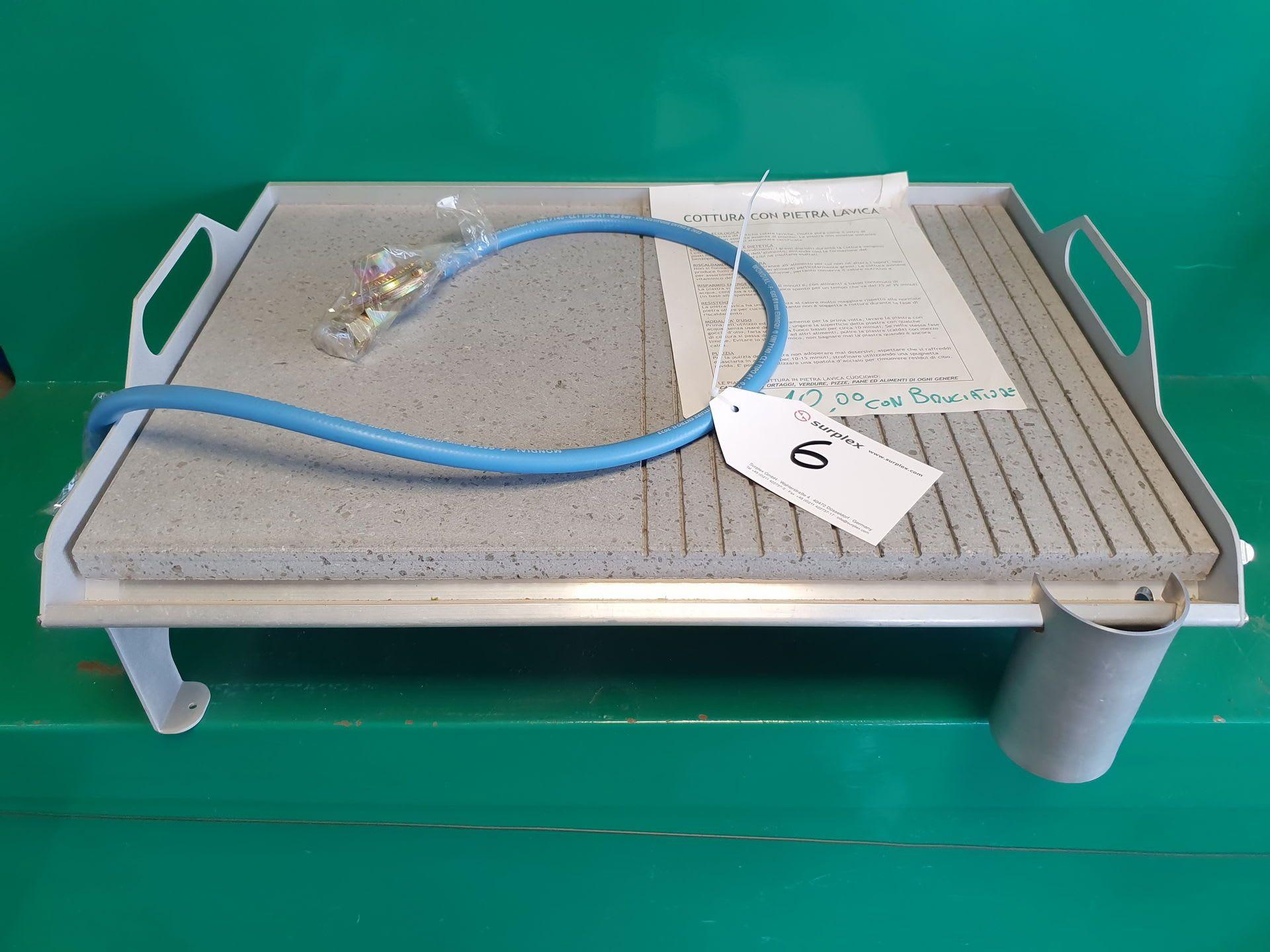 Gasplatte mit Lavastein-Oberfläche