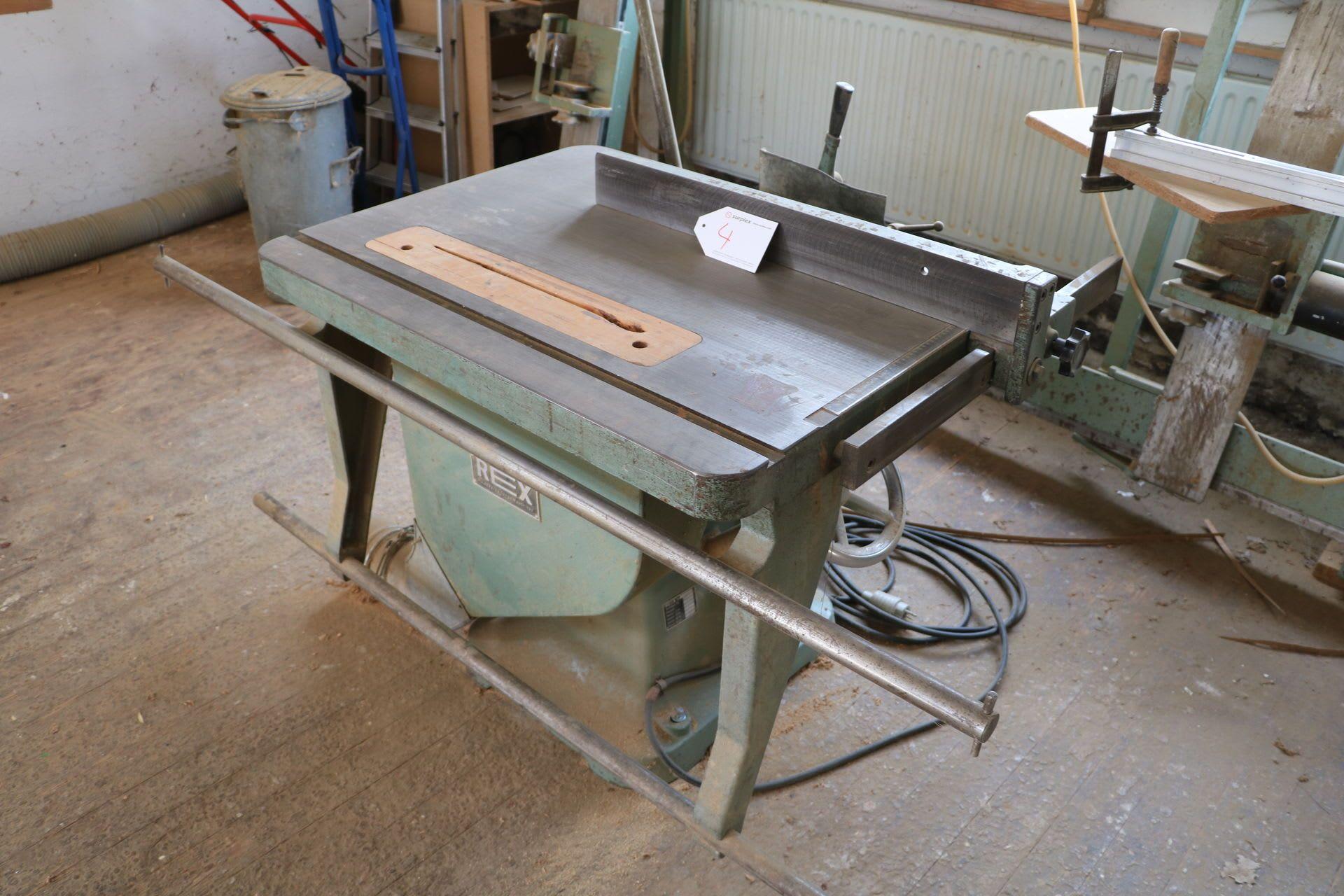 REX Kombinierte Tischkreissäge mit Langloch-Bohrmaschine
