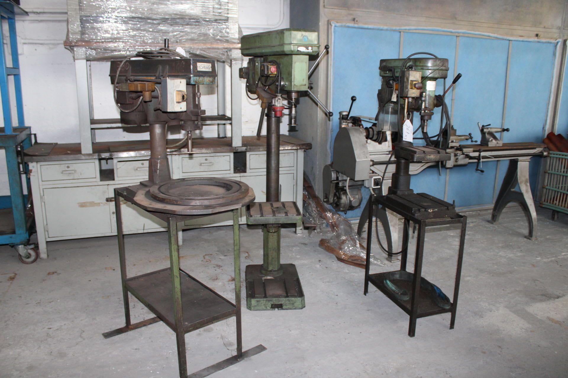 Posten Säulenbohrmaschinen (x 3)