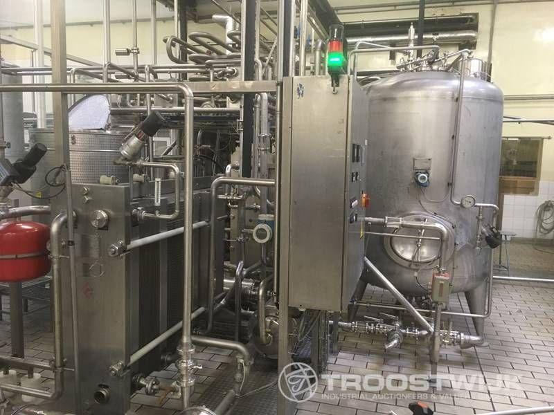 unter Druck gesetztes kohlensäurehaltiges Getränkepasteurisiermittel