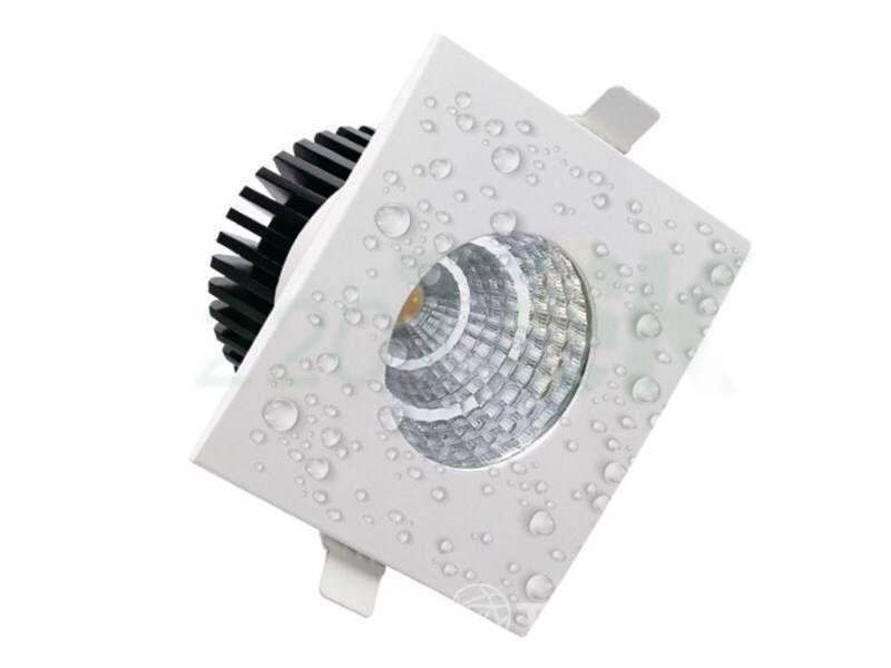 Wasserdicht; 6W LED Einbauspot; weißes Quadrat; neutralweiß